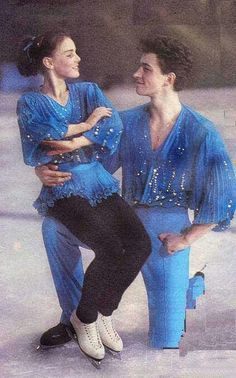 Ekaterina Gordeeva and Sergei Grinkov. Husband and wife team from 1993. Such a sad sweet story!