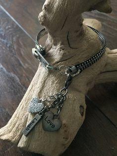$15 plus 5 Silver Metal Zipper Bracelet by BejewelousBracelets on Etsy