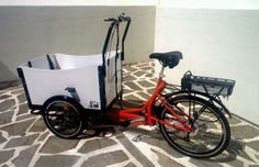 Cargo Bike Bakfiets Bicycle Box Family Kids Trailer Beach Park Electric E-bike