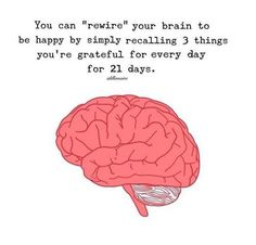 Rewire your brain to be happy.