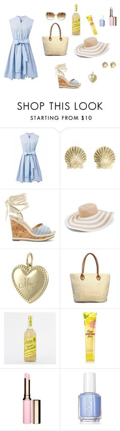 """""""Summer feel 11"""" by mivaldal on Polyvore featuring Chicwish, Tiffany & Co., Sole Society, Vera Bradley, Clarins, Essie and Salvatore Ferragamo"""