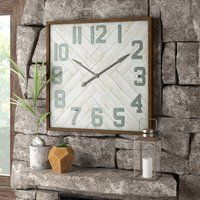 Oversized Louie Square Wood Wall Clock Wall Clock Design Wall Clock Wood Wall Clock