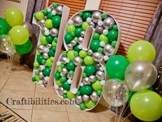 GIANT mosaic numbers / letters filled with balloons - Party decoration idea - DIY How to make tutorial - birthday Small Balloons, Number Balloons, Letter Balloons, Birthday Balloon Decorations, Diy Party Decorations, Birthday Balloons, How To Make Letters, How To Make Banners, Diy Birthday Number
