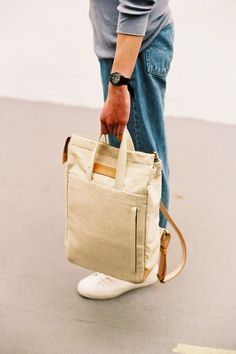 Handle Backpack Natural (Free Worldwide Express Delivery)