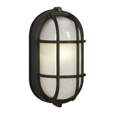 Marine 8.375-in H Black Outdoor Wall Light - upstairs hallway sconce