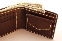 Acessório de couro Duram FACTORY | carteira de couro feito à mão com porta-moedas