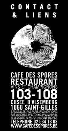 Cafe des Spores - Restaurant specialité champignons et vins.