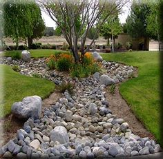 pictures of dry creek beds in landscaping | Garden Gallery - Landscape photos grouped into multiple categories