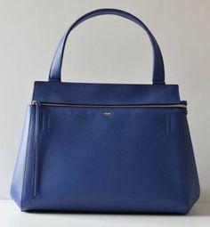 Celine Edge Electric Blue Leather Celebrity Favourite It Bag Super Carried Once | eBay