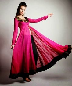 Fashion Latest Dresses for Eid | Anarkali Frocks 2014 for Young Girls