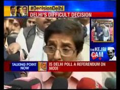 Delhi Elections: Kiran Bedi talking to press on the poll day