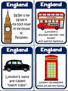 England - Flashcards