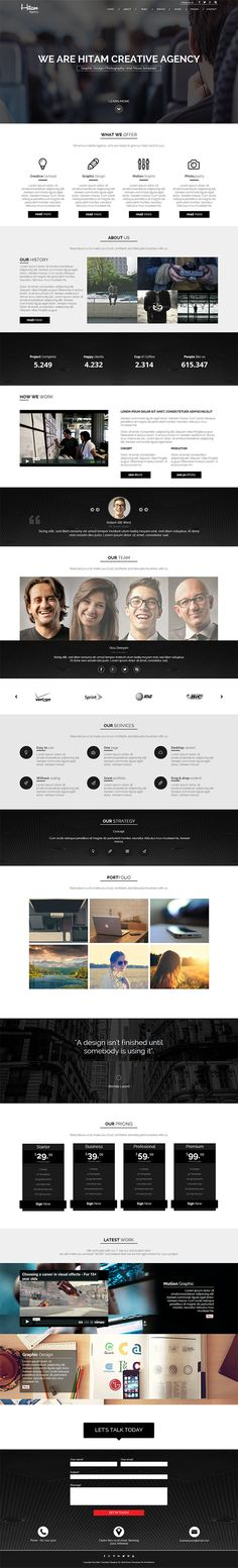 Hitam Muse Template, for your business, corporate, agency, creative, company, and studio profile. #website #musetemplate #web