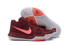 f931f5971e0e Fashion 2018 Mens Nike Kyrie 3 Warning Team Red Grey Basketball Shoes  852395-681 Nike