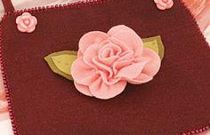 Artesanato Viviartes: Rosa em feltro com passo a passo e Molde