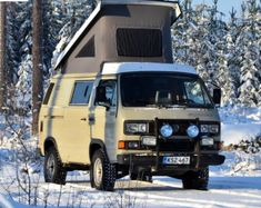 Volkswagen Westfalia Campers, Vw Syncro, Off Road Camper, Bus Camper, T3 Bus, Transporter T3, Adventure Car, Cool Campers, Cool Vans