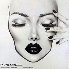 Love these great mac makeup looks Image# 5025 - makeup_full_pintennium Mac Makeup Looks, Best Mac Makeup, Makeup Vs No Makeup, Makeup Cosmetics, Facechart Mac, Facechart Makeup, Mac Face Charts, Hand Makeup, Makeup Illustration