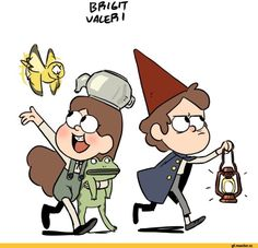 Mabel Pines,GF Персонажи,Gravity Falls,фэндомы,Over The Garden Wall,Dipper Pines,кроссовер,Bill Cipher