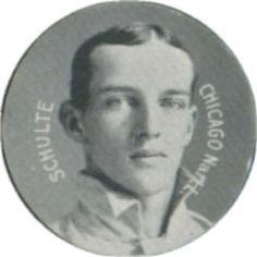 1909-11 Colgan's Chips Stars of the Diamond E254 #NNO Wildfire Schulte Front