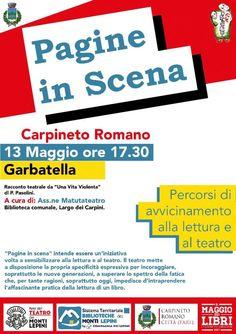 Pagine in scena - Percorsi di avvicinamento aIla lettura e al teatro - Carpineto Romano