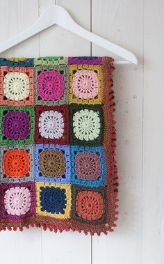 granny squares blanket by dutch blue - nice colours!