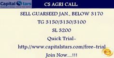 CS AGRI CALL: SELL GUARSEED JAN., BELOW 3170  TG 3150/3130/3100  SL 3200  Quick Trial-http://www.capitalstars.com/free-trial Join Now....!!!