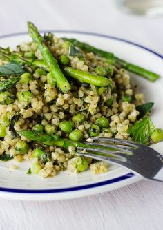 A light and delicious spring buckwheat risotto that won't leave you feeling weighed down!