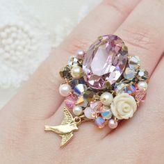 Purple Gem Statement Ring