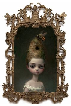we spotted this new Mark Ryden painting.    She is titled Queen Bee