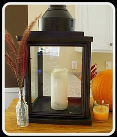 lantern from dollar store frames