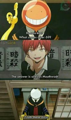 Was this really in the anime? I don't remember this part... What's 69? Answer should be 70, right? ._.