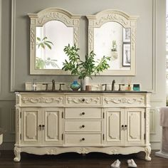 Photo Album Website  inch white french country bathroom vanity with double sinks and baltic brown granite top