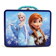 Disney Frozen Tin Lunch Box - Turquoise and Blue