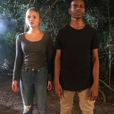 Olivia Holt and Aubrey Joseph Black Man White Girl, White Girls, Tyrone Johnson, Aubrey Joseph, Jessica Jones Trish Walker, Pll Outfits, Defenders Marvel, Runaways Marvel, Cloak And Dagger