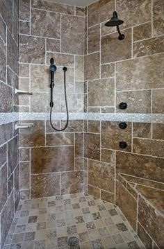 Big walk in shower  must have big shower  because shower walls are gross Big shower  Exactly what I ll need   My Someday Homey   Pinterest  . Big Walk In Showers. Home Design Ideas