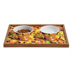 Rosie Brown Carnaval Pet Bowl and Tray | DENY Designs Home Accessories  #pet #bowl #tray #dog #cat #art #denydesigns #homedecor