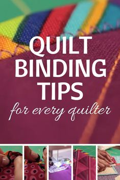 Here are some quilting tips and quilting video tutorials to make binding your quilts and projects a little easier! Quilting For Beginners, Quilting Tips, Quilting Tutorials, Machine Quilting, Quilting Projects, Quilting Designs, Quilt Design, Strip Quilt Patterns, Strip Quilts