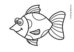 Fish Animals coloring pages for kids, printable free