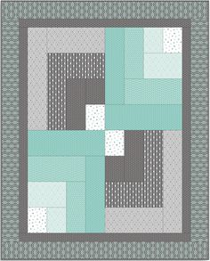 Free Projects | Quilt Bars Quilt by Tamarini | Mint Condition by Jackie McFee for Camelot Fabrics