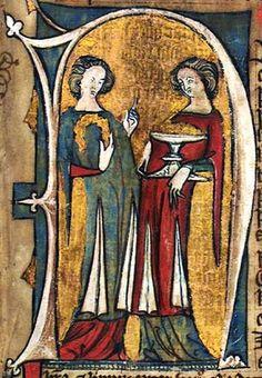 GKS 1154 The Hardenberg codex. Norwegian laws, century More split skirts. Plus great color scheme. Medieval World, Medieval Art, Medieval Fashion, Medieval Clothing, Medieval Manuscript, Illuminated Manuscript, 14th Century Clothing, Renaissance Kunst, High Middle Ages