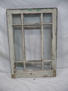 Antique Craftsman Style Window   Fir With Orig. Glass Architectural Salvage