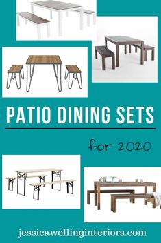 Set up a fun and festive patio dining space in your backyard with one of these stylish and affordable patio dining sets! Outdoor Picnic Tables, Kids Picnic Table, Outdoor Dining Set, Patio Dining, Outdoor Entertaining, Outdoor Living Rooms, Outdoor Dining Furniture, Garden Furniture, 3 Piece Dining Set