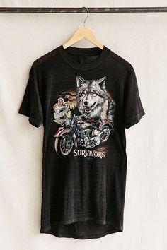 Vintage Wolf Harley Tee Shirt
