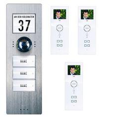 M-E videofoon kit 3 woningen wit 1096,-
