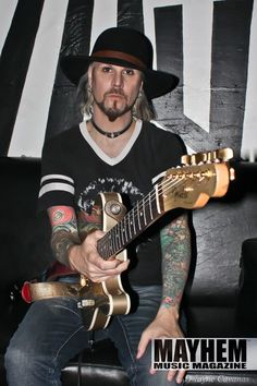 John 5 of Rob Zombie during our photoshoot in San Francisco - photo by Dwayne Cavanas for Mayhem Music Magazine