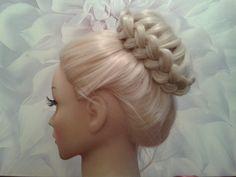 Lace Braided Hair Bun UpDo Hairstyles / Hair Tutorial