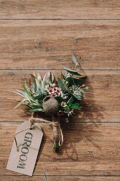 Leucadendrons, Banksia grevillea flannel flower wedding bouquet - Google Search