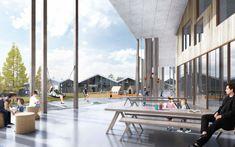 "Smart School Project. Irkutsk, Russia, by CEBRA Architects --""CEBRA is a multidisciplinary Danish architecture office founded in 2001 by architects Mikkel Frost, Carsten Primdahl and Kolja Nielsen"" - firm statement"