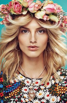 ❀ Flower Maiden Fantasy ❀ women & flowers in art fashion photography - Michaela Kocianova for Elle Czech May 2014