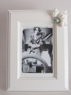 Beach Decor   Shell Photo Frame by CereusArt on Etsy, $20.00